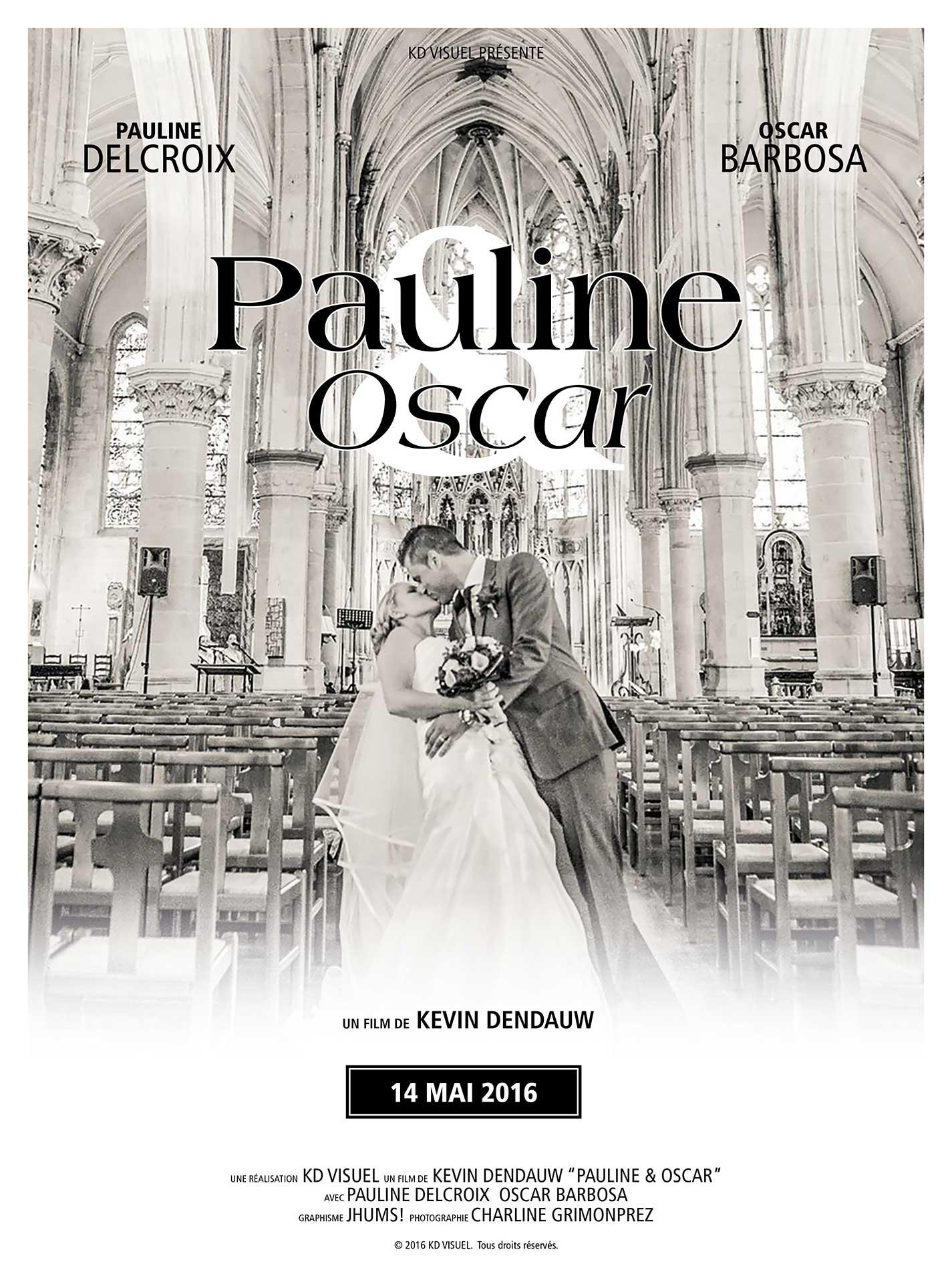 Affiche Mariage Pauline et Oscar
