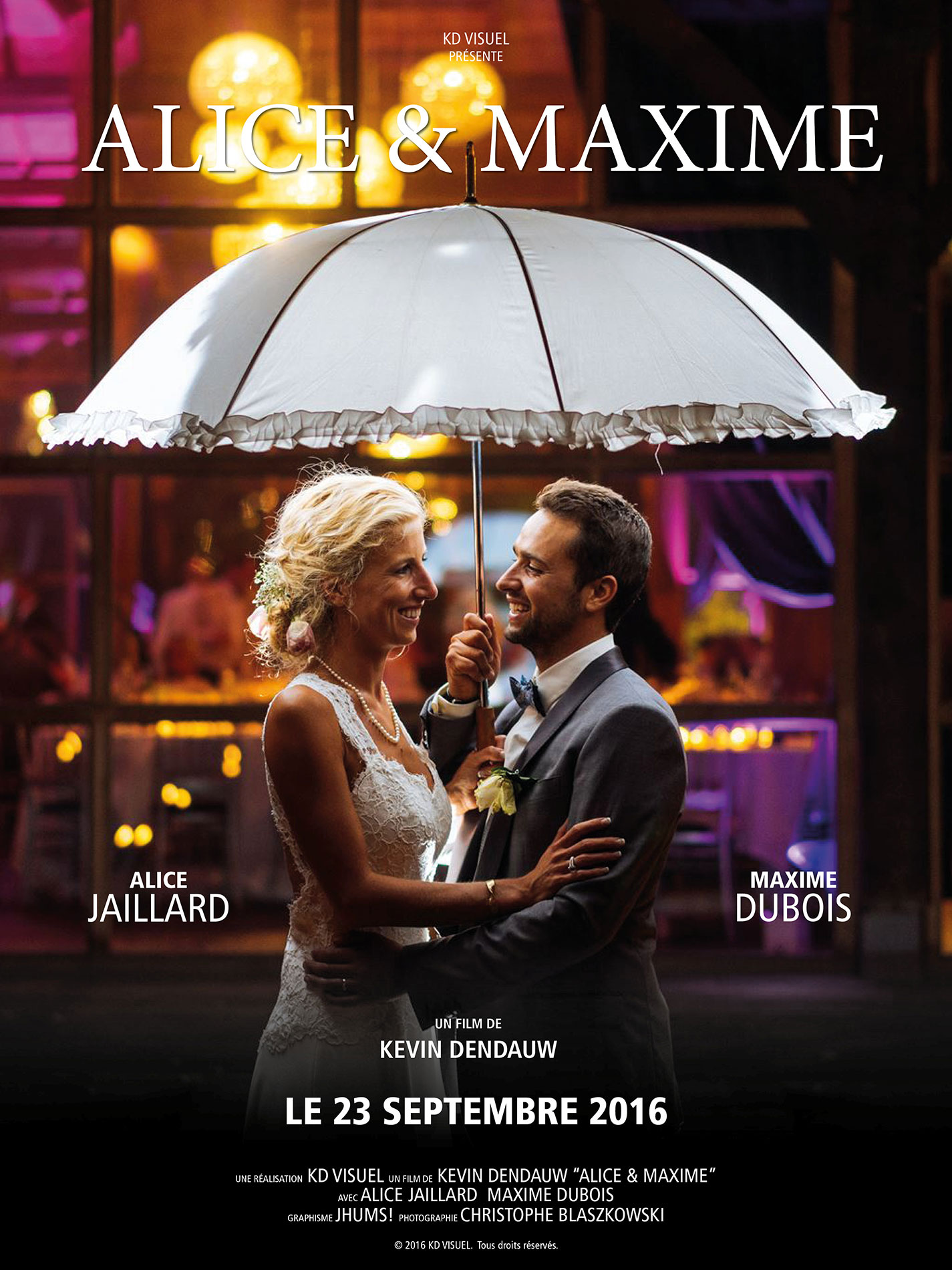 Affiche mariage Alice Maxime