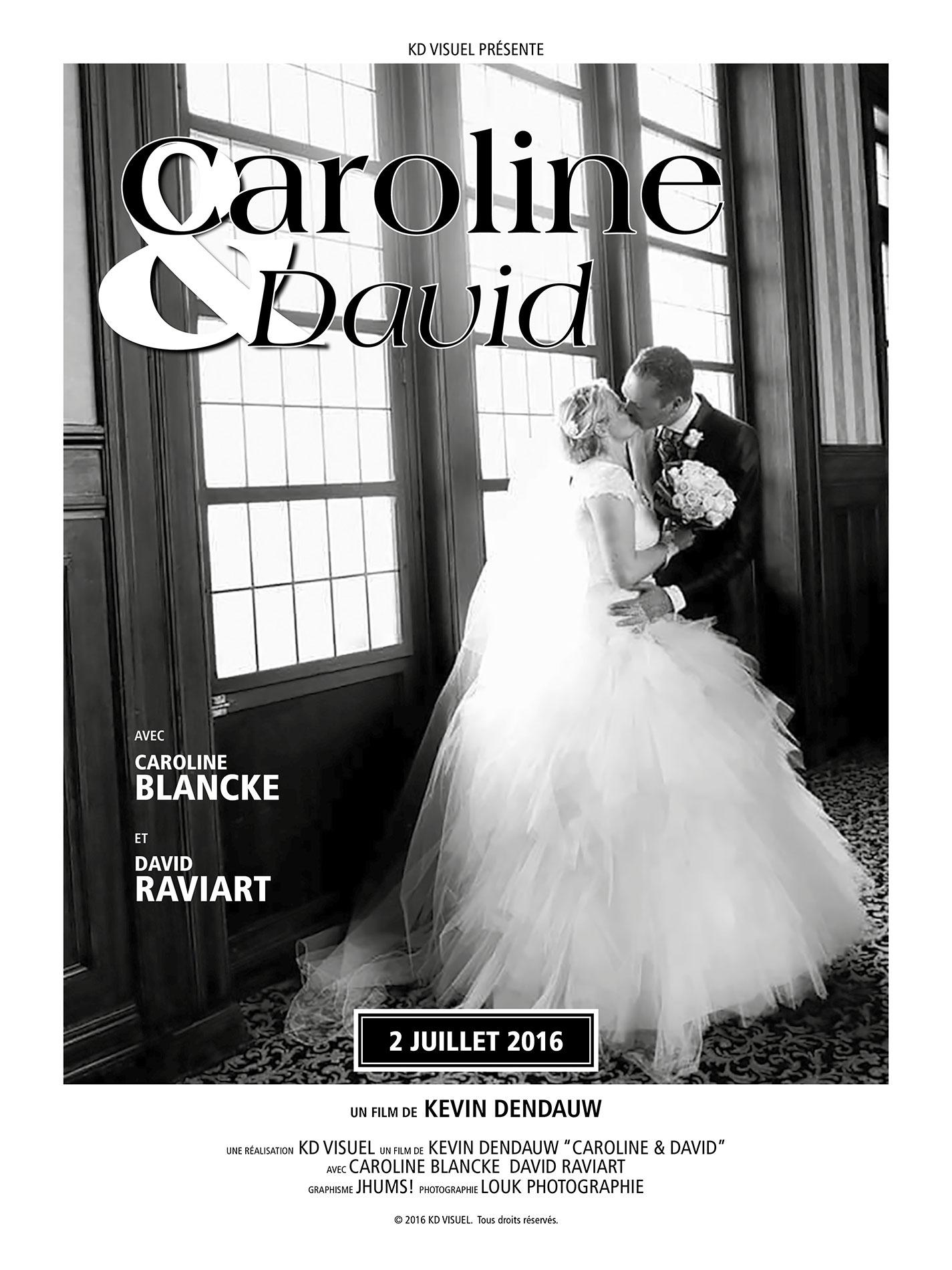 Affiche mariage Caroline David
