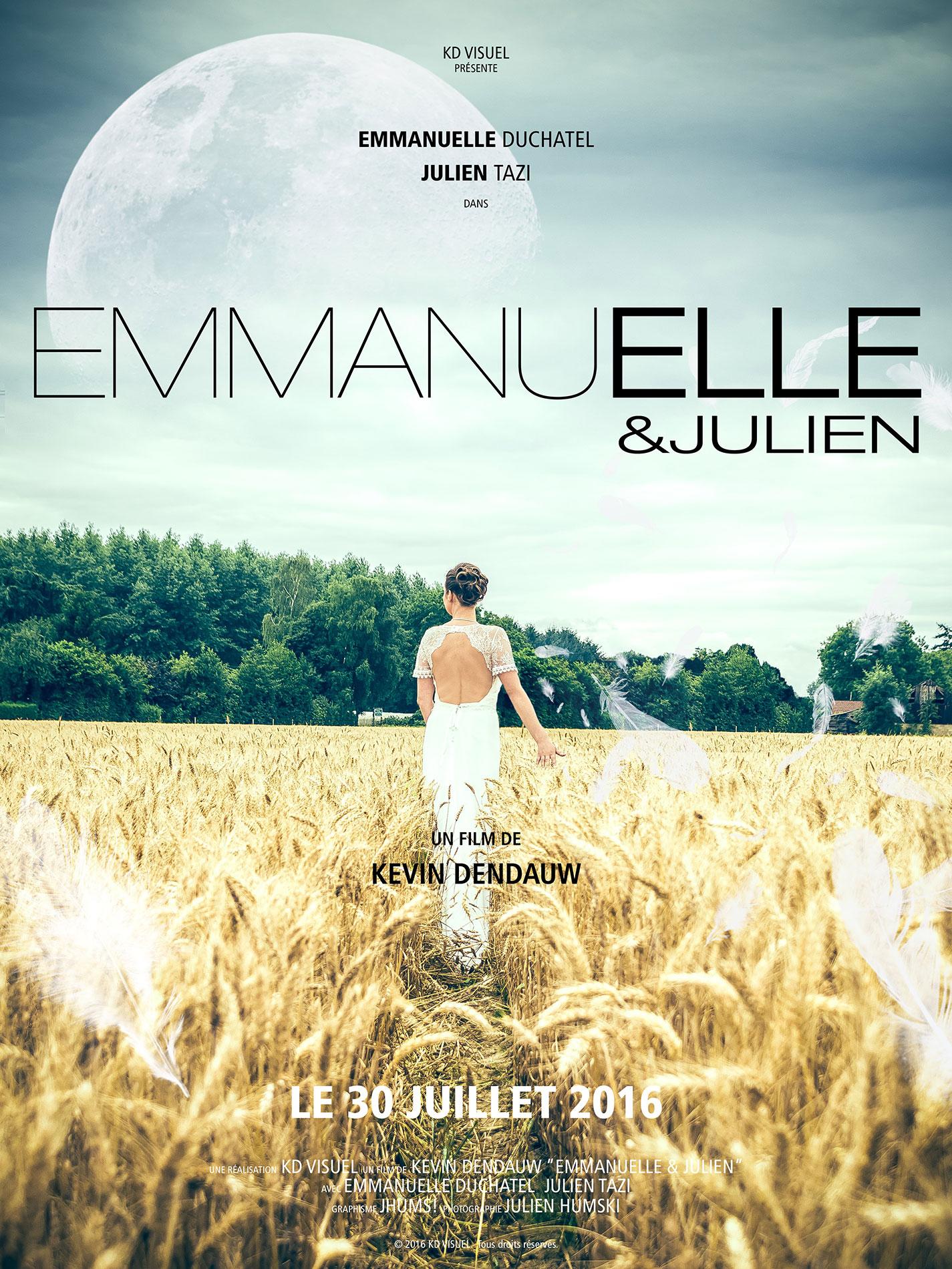 Affiche mariage Emmanuelle Julien