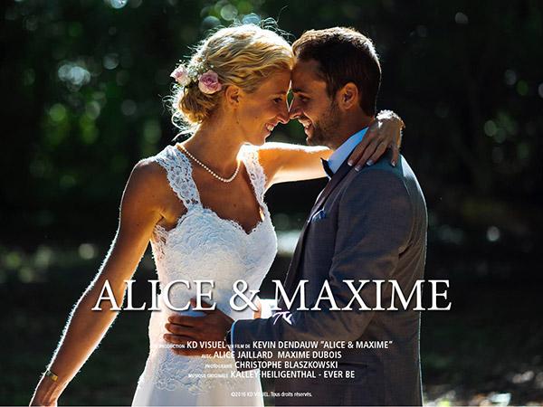 Mariage Alice et Maxime